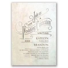 Simply Dreamy Foil Wedding Invitation - Silver at Invitations By Dawn
