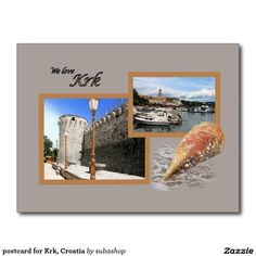 postcard for Krk, Croatia