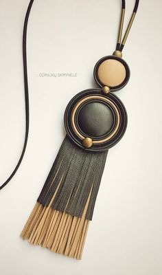 Gifts - - Gifts Leather Gift × Siehe verwandte Artikel im Fanatic Leather Store. Tassel Jewelry, Wooden Jewelry, Beaded Jewelry, Leather Necklace, Leather Jewelry, Leather Gifts, Leather Store, Handcrafted Jewelry, Unique Jewelry
