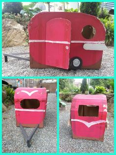 Simple My st Pin Vintage Trailer Cardboard Box Fort I made this with