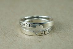 Couple Rings Couple Ring Set Promise Rings For by JewelryGhouse