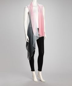 Take a look at this Pink Sheer Vest by Lily on #zulily today!