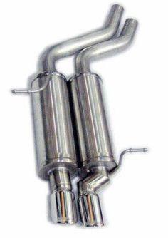 2X Chrome Rear Muffler Exhaust Tail Pipe Trim For BMW E90 E92 E9 325 325i 328i