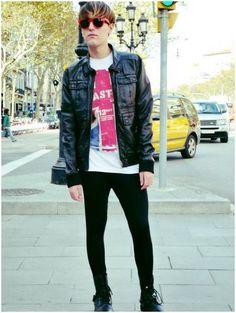 Tmavě černé pánské džíny