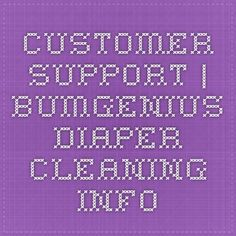 Customer Support | bumGenius - diaper cleaning info