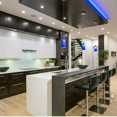 10 Mind Blowing Cool Tips: False Ceiling Lights Home Theaters false ceiling living room wooden.False Ceiling Home Interior Design. Luxury Kitchen Design, Best Kitchen Designs, Luxury Kitchens, Interior Design Kitchen, Cool Kitchens, Kitchen Ceiling Design, Custom Kitchens, Home Decor Kitchen, Kitchen Living