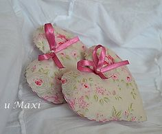 Maxi / Dekoračné srdiečka s levandulou