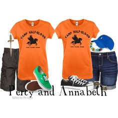 Outfits inspired by Percy Jackson and Annabeth Chase from Rick Riordan's Percy Jackson the Olympians series