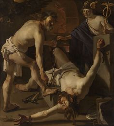 Dirck van Baburen (1595-1624), Prometheus Being Chained by Vulcan, 1623