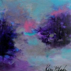 Small Abstract Landscape Painting Soft от kerriblackmanfineart