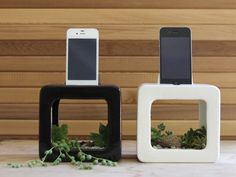 The Bloombox iPhone Dock, Planter, and Sound Amplifier by Nicholas Hyde and Brennan Conroy, via Kickstarter.