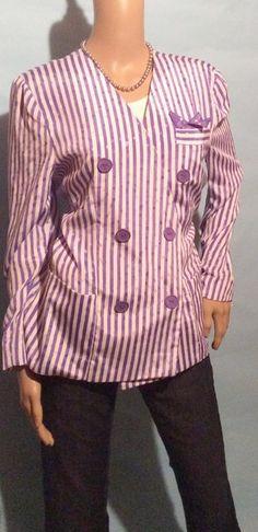 Purple Stripe Blazer Size 8