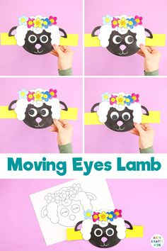 Welcome Spring with this super fun and easy to make Moving Eyes Lamb Craft. With its playful elements, children will find delight in the crafts quirky and characterful eye movements; making it the perfect accompaniment to story-telling and play based learning. Spring Crafts For Kids, Crafts For Kids To Make, Easy Art Projects, Projects For Kids, Lamb Template, Lamb Craft, Moving Eyes, Easy Arts And Crafts