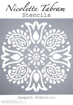 Janpath Stencil. Perfect for furniture, floors and fabric  nicolettetabram.co.uk