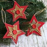 Over 20 handmade cardboard Christmas trinkets! - Over 20 handmade cardboard Christmas trinkets! Handmade Christmas Decorations, Christmas Ornaments To Make, Christmas Crafts For Kids, How To Make Ornaments, Homemade Christmas, Christmas Projects, Holiday Crafts, Christmas Gifts, Christmas Ornaments Handmade