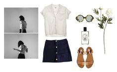 """""""Romarin."""" by nuitdoctobre ❤ liked on Polyvore featuring Claudie Pierlot, Steven Alan, Steve Madden, Karen Walker, Crate and Barrel and Diptyque"""