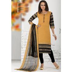 Ethnic Wear Readymade Yellow Salwar Suit - 79878