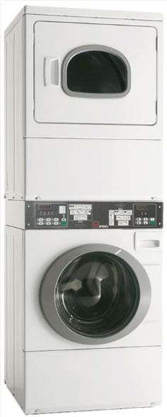 Ipso Commercial Washing Machine & Clothes Dryer Stack.