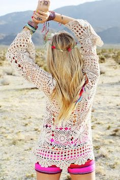 Free People. Crochet Tunic.