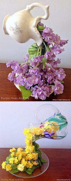 Floating flower jugs