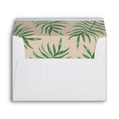 Pineapple Tropical Summer Beach Wedding Envelope
