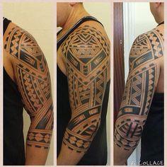 Maori 1/3 sleeve. All freehand. #uktta #maoritattoo #polynesiantattoo #blacktattoo #1/3sleeve #inkjunkeyz #tattooartistmag #tattoosofinstagram #freehandtattoo