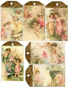 Imágenes del pasado: Etiquetas para scrapbooking, collage o de la vendimia