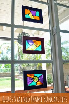 Glass Stained Suncatchers DIY | Club Chica Circle - where crafty is contagious
