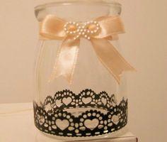手工 蝴蝶结 蕾丝 废物利用 布丁瓶子 布丁瓶子 蝴蝶结 蕾丝 的结合 ,废物利用…
