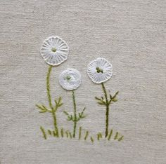 Check out this remarkable photo - what an ingenious innovation Embroidery Flowers Pattern, Simple Embroidery, Japanese Embroidery, Embroidery Needles, Hand Embroidery Stitches, Silk Ribbon Embroidery, Crewel Embroidery, Embroidery Techniques, Floral Embroidery