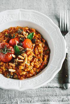 tomatenrisotto von krautkopf, super lecker