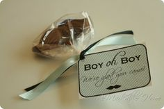 Little man baby shower! Love this idea for baby Josiah!