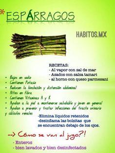 Los espárragos y sus beneficios! :) #vidasana #comerbien #alimentos #saludable #esparragos