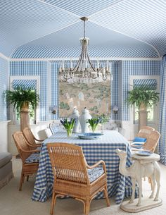 The blue and white club meeting is on! - The Enchanted Home Mark Sikes, Nantucket Home, Hollywood Hills Homes, Rm 1, Enchanted Home, Outdoor Spaces, Outdoor Decor, Interior Decorating, Interior Design