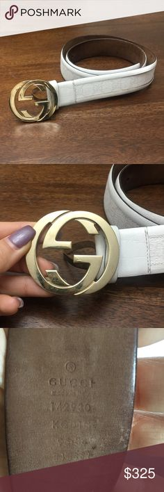 bd20dc47c64 Shop Men s Gucci Gold White size OS Belts at a discounted price at Poshmark.