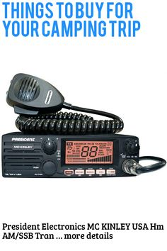 (This is an affiliate pin) President Electronics MC KINLEY USA Hm AM/SSB Tranceiver CB Radio, 40 Channels, 7 Weather Channels, Channel Rotary Switch, Volume Adjustment and ON/OFF, Multi-functions LCD Display, 12/24V