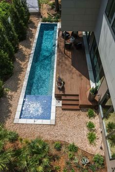 Having a pool sounds awesome especially if you are working with the best backyard pool landscaping ideas there is. How you design a proper backyard with a pool matters. Small Swimming Pools, Small Backyard Pools, Small Pools, Swimming Pools Backyard, Swimming Pool Designs, Backyard Landscaping, Lap Pools, Indoor Pools, Small Backyards