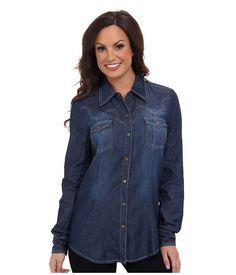 Roper 9369 5 Oz Indigo Denim Long/Lean Shirt