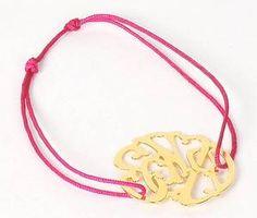 Bracelet fil monogramme Senzou M.M.