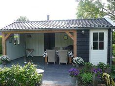 Afbeeldingsresultaat voor tuinschuur met veranda
