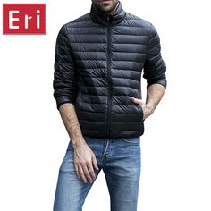 Cheap parka down, Buy Quality parka parka directly from China parka 2016 Suppliers: Autumn Winter Jacket Men 2016 New Couples Thin Coats Duck Down Ultra-light Slim Stand-Collar Cotton-Padded Solid Parkas Mens Light Jacket, Mens Down Jacket, Jacket Men, Down Parka, Parka Coat, Couple Jacket, Outfit Man, Duck Down, Cotton Pads