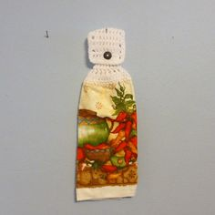 Hanging Kitchen Towel Chillis Hot Peppers by DebbieCrochets