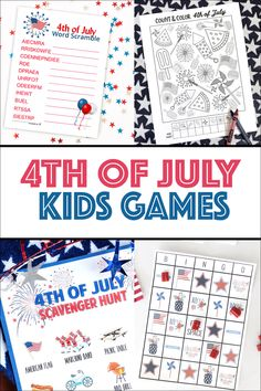 4th of July Word Scramble - Over the Big Moon