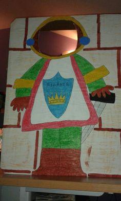 Photocall de caballero medieval para proyecto los castillos
