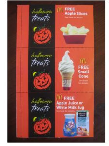 McDonald's Halloween Coupon Booklets