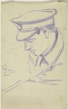 image: studies of four heads of British and Australian personnel. The other three drawings depict Australian infantrymen wearing slouch hats. Ww1 Art, First World, Painting & Drawing, War, Drawings, Image, Drawing, Portrait, Paint