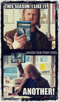Thor and The Walking Dead I am dying!! XD