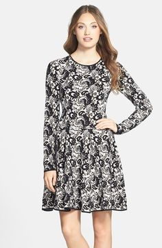 FELICITY COCO Fit Flare Sweater Dress (Nordstrom Exclusive) is on sale now for - 25 % !  is on sale now for - 25 % !