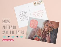 post card save the dates. this site has a ton of great printables! #lovevsdesign