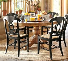 Sumner Extending Pedestal Dining Table - traditional - dining tables - other metro - by Pottery Barn